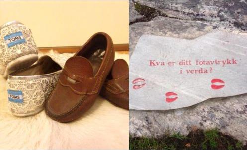 I fotspora til Aurlandskoen og Toms shoes
